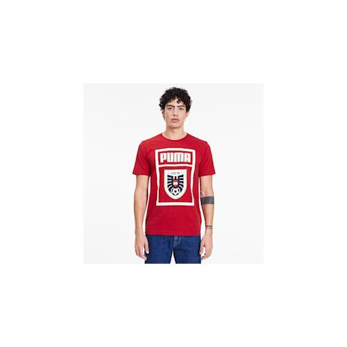 Puma Österreich Shoe Tag Herren T-Shirt   Mit Aucun   Rot   Größe: M
