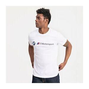 Puma BMW M Motorsport Logo Herren T-Shirt   Mit Aucun   Weiß   Größe: S