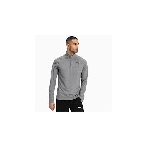 Puma Active Herren Half Zip Sweatshirt   Mit Heide   Grau