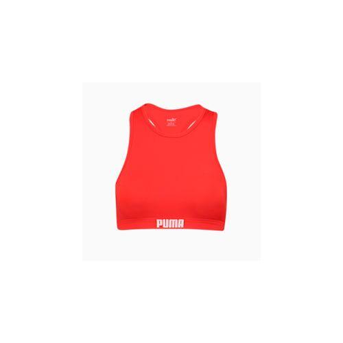 Puma Swim Damen Racerback Bikinitop   Mit Aucun   Rot   Größe: XS