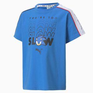 Puma x SONIC Advanced Jungen T-Shirt Für Kinder   Mit Aucun   Blau   Größe: 164