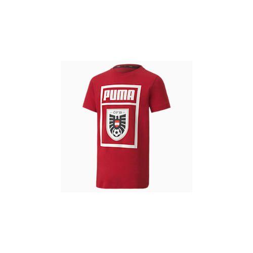 Puma Österreich Shoe Tag Kinder T-Shirt   Mit Aucun   Rot   Größe: 116