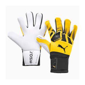 Puma ONE Grip 1 Hybrid Pro Fußball Torwarthandschuhe   Mit Aucun   Weiß/Schwarz/Gelb   Größe: 9