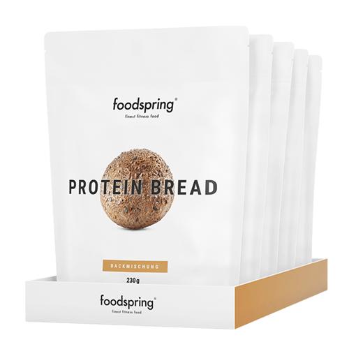foodspring 5er Pack Proteinbrot - 90g Protein, Molkeeiweiß, Leinsamen
