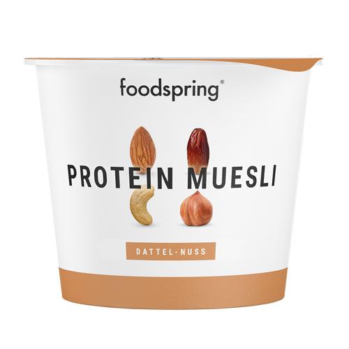 foodspring Bio Protein Müsli Dattel-Nuss To Go - Mit 29% Protein, 100% Bio