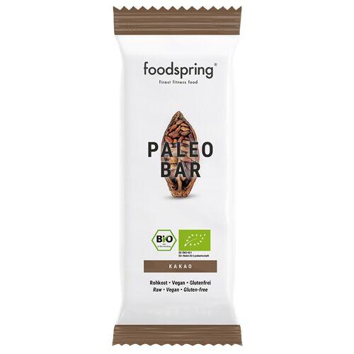 foodspring Paleo Bar Kakao - 100% Bio-Qualität, ohne Gentechnik