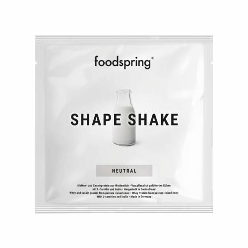 foodspring Shape Shake Neutral To Go 15er Pack - Praktisch für unterwegs