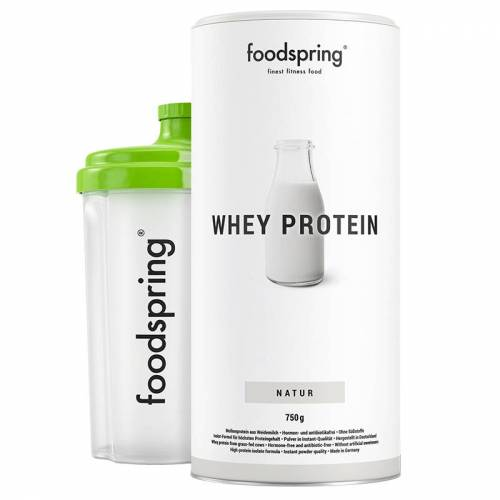 foodspring Whey Protein Shake Neutral- Premium Eiweiß für optimalen Muskelaufbau