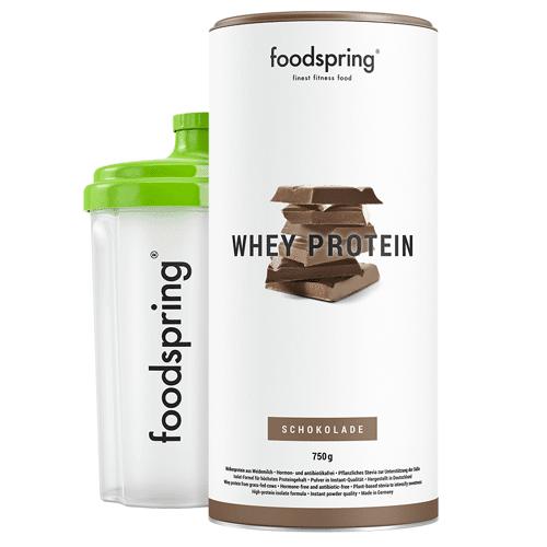 foodspring Whey Protein Shake Schokolade- Premium Eiweiß für optimalen Muskelaufbau