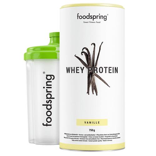 foodspring Whey Protein Shake Vanille - Premium Eiweiß für optimalen Muskelaufbau