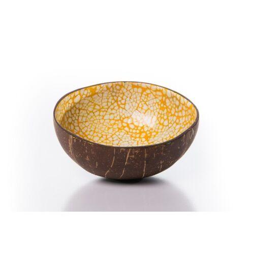 Bea Mely Kokosnussschale Mit Mosaik Aus Eierschalen orange
