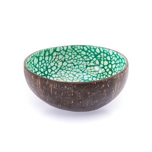 Bea Mely Kokosnussschale Mit Mosaik Aus Eierschalen grün