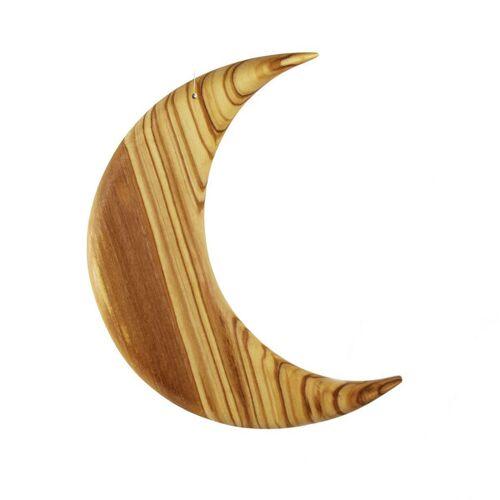 Mitienda Shop Fensterschmuck Mond Aus Olivenholz