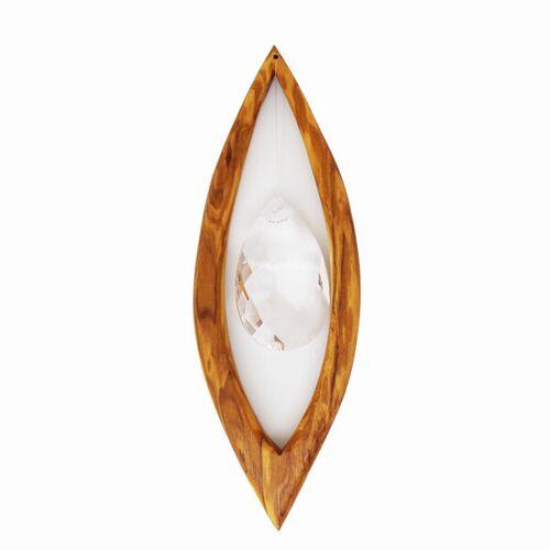 Mitienda Shop Fensterschmuck Aus Holz   Segel Mit Bleikristall  groß