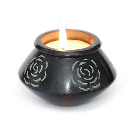 Mitienda Shop Kerze In Rosenschale Aus Speckstein, Teelichtschale