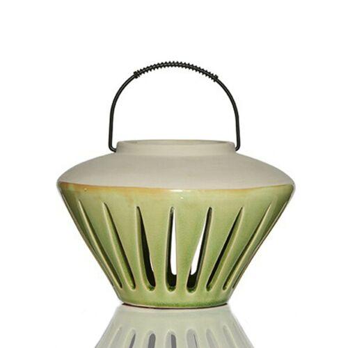 Mitienda Shop Laterne Aus Keramik Flach