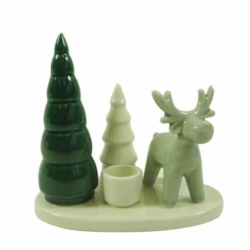 Mitienda Shop Kerzenständer Tanne/hirsch, Weihnachtsdeko tanne