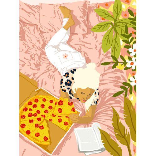 Photocircle Pepperoni Pizza - Poster Von Uma Gokhale  20 x 15 cm