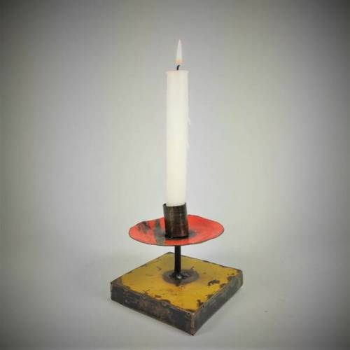 Moogoo Creative Africa Kerzenständer Aus Recycelten Ölfässern Industrial Design Upcycling rot/gelb