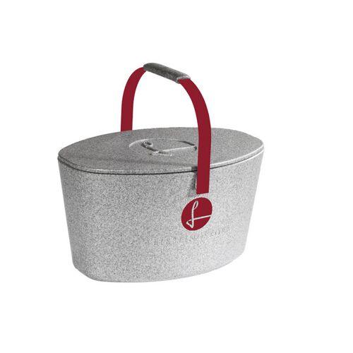 Lieblingskorb Plus Silver Grey weinrot (rot)