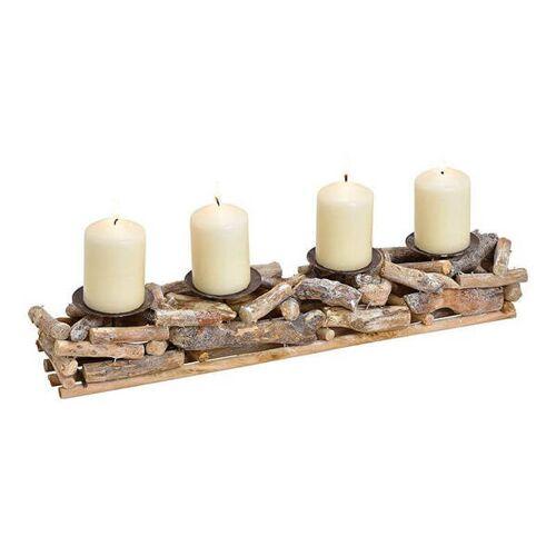 ReineNatur Gesteck Aus Treibholz Mit 4 Kerzenhaltern