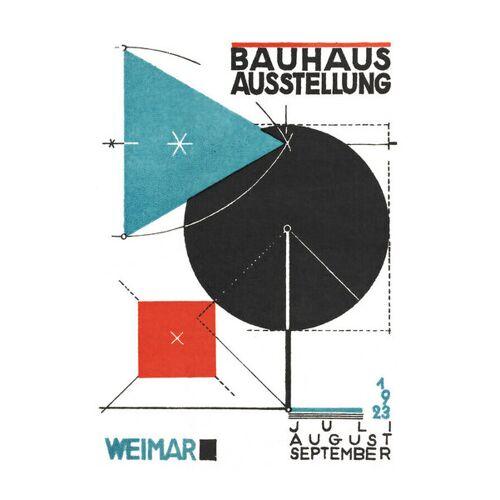 Photocircle Bauhaus Austellung 1923 (Weiß) - Poster Von Bauhaus Collection weiß 59 x 42 cm