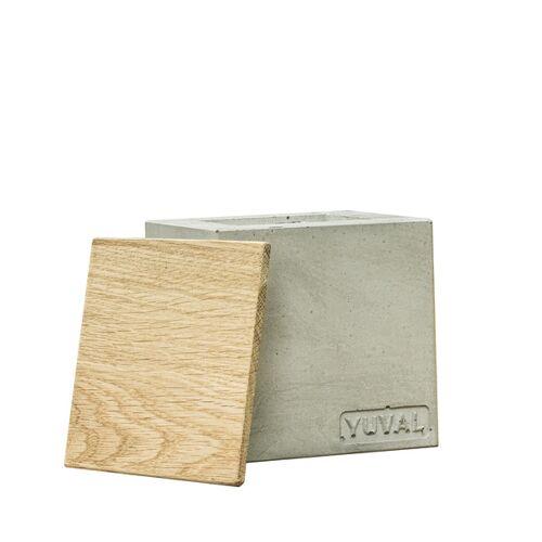 Yuval Betonkerze 10,5 Cm x 10.5 Cm - Aus Grünem Beton - Vegan