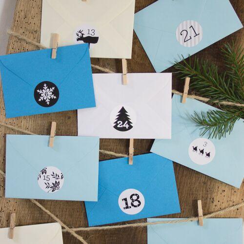Bow & Hummingbird Adventskalender Eisblau eisblau