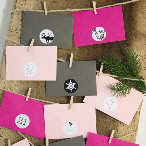 Bow & Hummingbird Adventskalender Pink/graphit pink