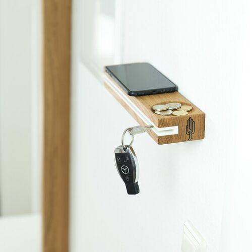 Holzbutiq Schlüsselbrett Slosilo, Design Schlüsselbrett Aus Holz Mit Ablage