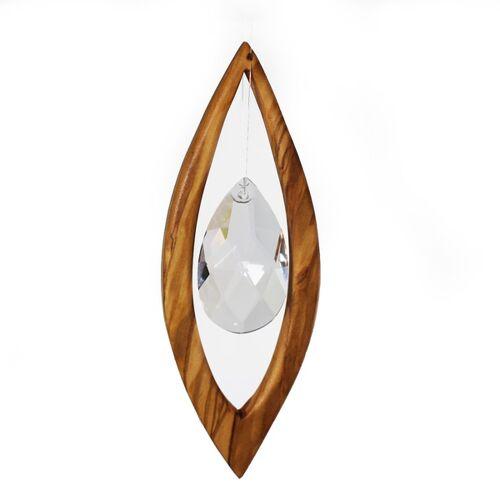 Mitienda Shop Fensterschmuck Aus Holz   Segel Mit Bleikristall  klein