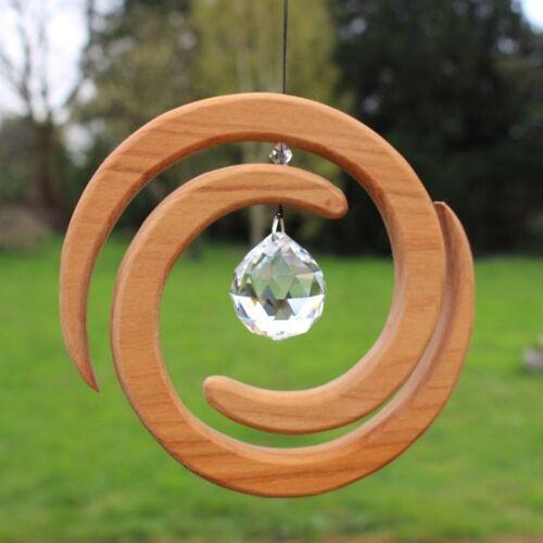 Mitienda Shop Fensterdeko Aus Holz   Helix Mit Kristall