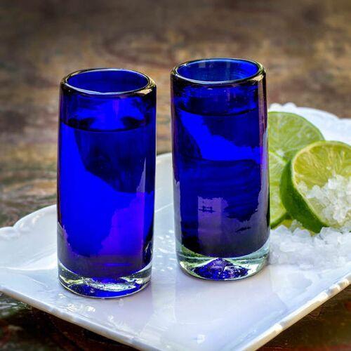Mitienda Shop Schnapsglas 2er Set Blau   9 Cm blau