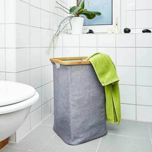 Bambuswald Wäschekorb Wäschesammler 50x32cm Wäschetruhe Wäschesack Faltbar