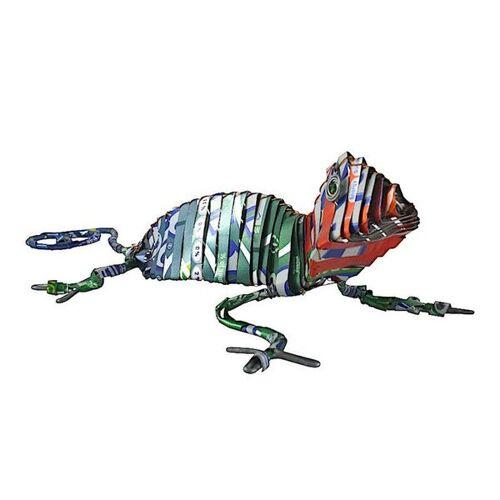 Little Zim Gecko Blechtier - M - Upcycling Township Art Africa