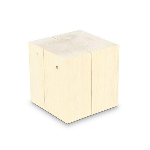 GreenHaus Holzblock 30x30cm Fichte Ungeölt Massivholz Beistelltisch  30×30×30cm