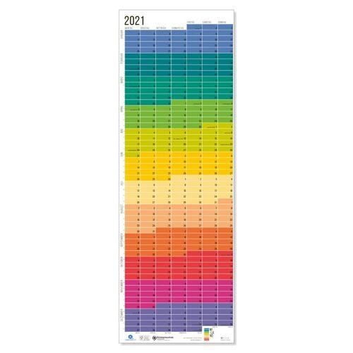 "Wi-La-No Wandkalender 2021 ""Regenbogen"" regenbogen"