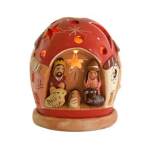 Mitienda Shop Windlicht Krippe, Weihnachtsdeko