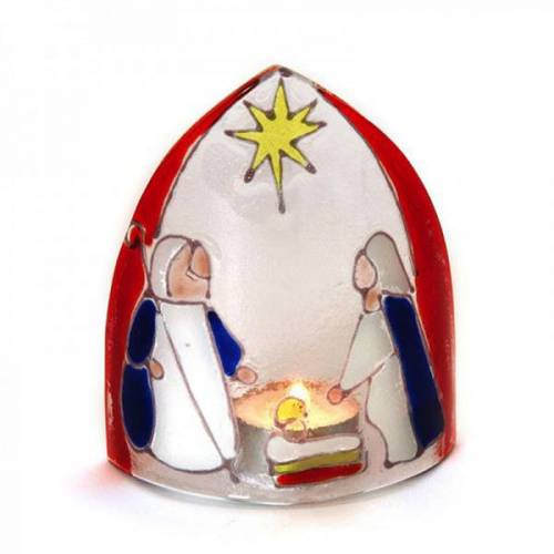 Mitienda Shop Windlicht Krippe Aus Glas, Weihnachtsdeko