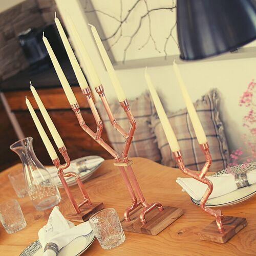 Holzköpfchen Diy Kerzenständer Kerzenhalter Kerzen Tischdeko Dekoration Wohnzimmer Küche Filigrano