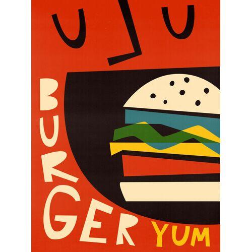 Photocircle Yum Burger - Poster Von Fox And Velvet fox 160 x 120 cm