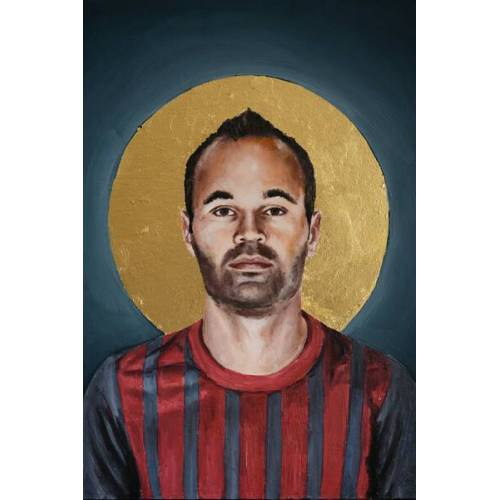 Photocircle Andres Iniesta - Poster Von David Diehl  45 x 30 cm