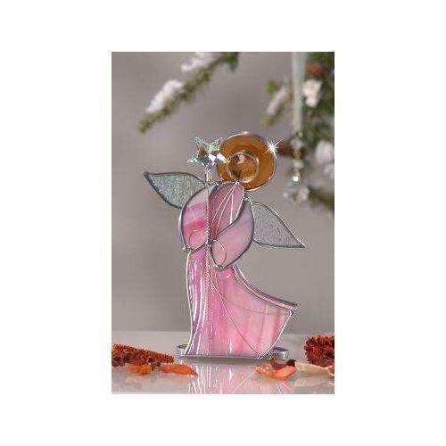 Glas Stadler Engel Aus Glas Für Teelicht Mit Kristallstern Lila lila
