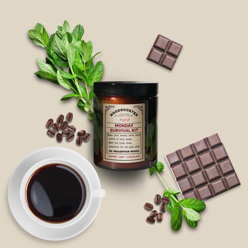 Moodbooster Monday Survival Kit - Duftkerze Brasilianischer Kaffee, Russ- Und Schadstofffrei kaffee