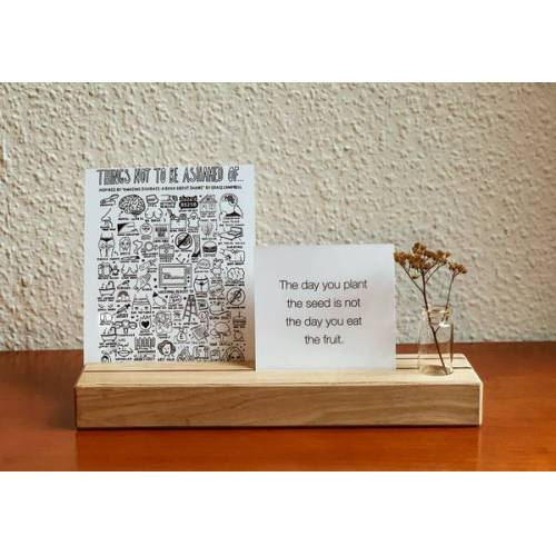 b.y.r.d. Kartenhalter Mit Teelicht Und Vase  2 reihen + kl. vase