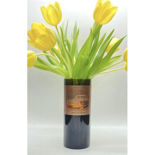 MaBe Vase Aus Der 0,7l Weinflasche Mit Etikett