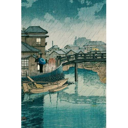 Photocircle Shinagawa By Kawase Hasui - Poster Von Japanese Vintage Art  90 x 60 cm