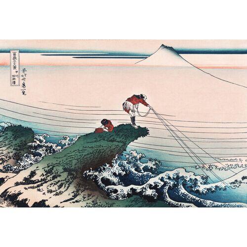 Photocircle Koshu Kajikazawa By Katsushika Hokusai - Poster Von Japanese Vintage Art  45 x 30 cm