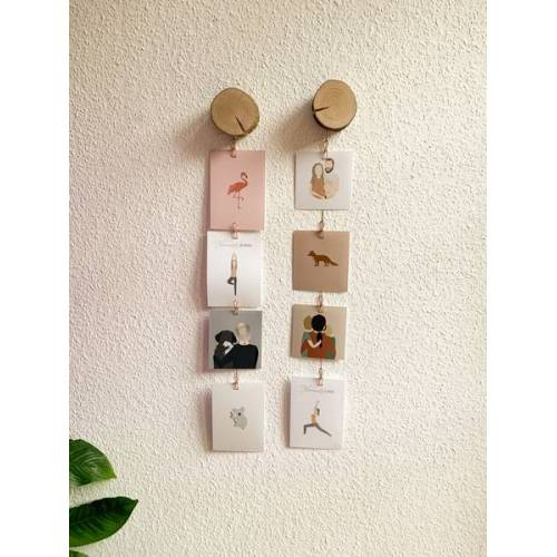 b.y.r.d. Vertikales Holzscheiben Foto-display (2er Set)