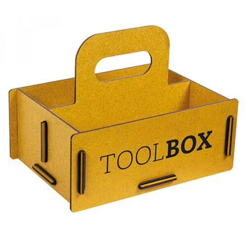 Werkhaus GmbH Aufbewahrungsbox Aus Holz - Schachtel, Holzkiste gelb S
